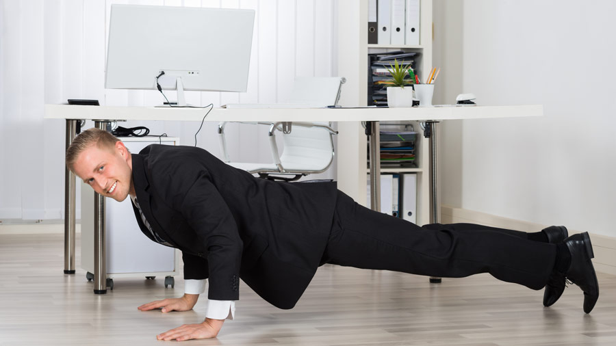 5 ways to sneak in a workout at the office